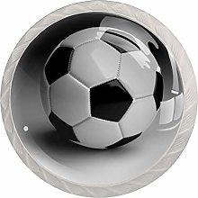 Football Sport White Crystal Drawer Handles