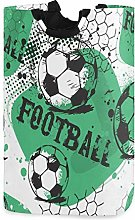 Football Sports Laundry Basket Soccer Ball