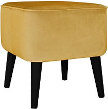Footstool MONKEY MACHINE Upholstery Colour: Gold