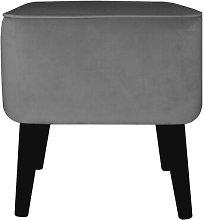 Footstool MONKEY MACHINE Upholstery Colour: Grey