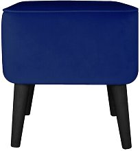 Footstool MONKEY MACHINE Upholstery Colour: Navy