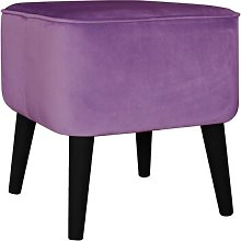Footstool MONKEY MACHINE Upholstery Colour: Violet