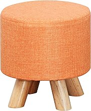 Footstool Solid Wood Stool Fashion Small Round