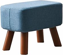 Footstools, Solid Wood Footstool, Square Fabric