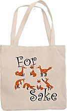 for Fox Sake Tote Reuseable Shoulder Shopping Bag