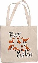 for Fox Sake Tote Reuseable Shoulder Shopping Bag