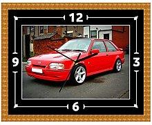 Ford Escort RS Turbo Clock Gift Present Christmas