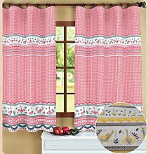 ForenTex Curtains Oca Yellow Curtain for Kitchen
