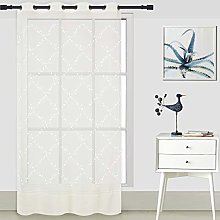 ForenTex Embroidered Curtains (B0582) Translucent
