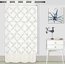 ForenTex Embroidered Curtains (Q0582) Translucent