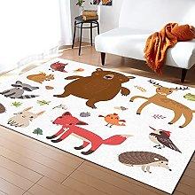 Forest Animals Carpet for Home Living Room Bedroom