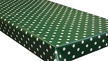 Forest Green Polka Dot PVC Vinyl Wipe Clean