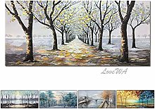 Forest Landscape Art Pure Oil Painting