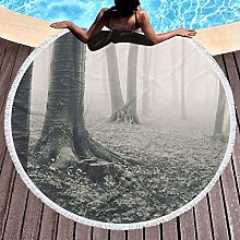 Forest Printed Round Beach Towel Yoga Picnic Mat