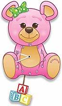 Forever Bespoke Custom Pink Teddy Bear Silent Tick