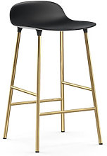 Form Bar stool - / H 65 cm – Brass foot by