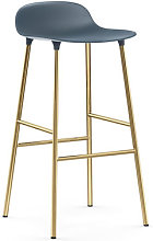 Form Bar stool - / H 75 cm – Brass foot by