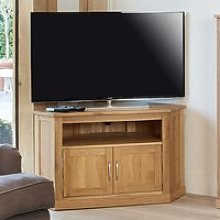 Fornatic Corner TV Stand In Mobel Oak With 2 Doors