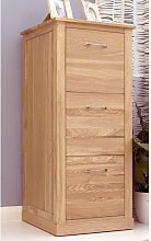 Fornatic Wooden Filing Cabinet In Mobel Oak With 3