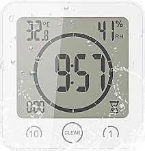 FORNORM Shower Clock Waterproof, Digital Clock