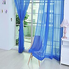 Foroner Fashion 1 PCS Pure Color Tulle Door Window