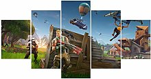 fortnite poster 5 Piece Cool Game Roles Creative