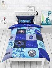 OFFICIAL FORTNITE Reversible Shuffle Single Duvet Cover Kids Bedding Set Gamer