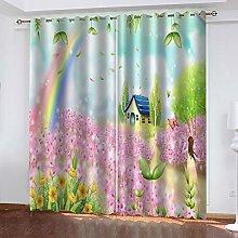 FOssIqU curtain 3D printing 46x63inch Dream Flower