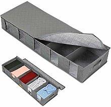 Fostudork Long Storage Bin under Bed Storage Bag