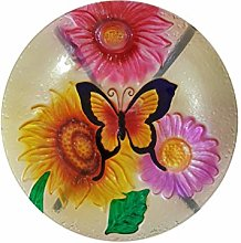 Fountasia Glass Butterflies Bird Bath Garden