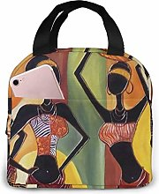 Four African Woman Portable Lunch Bag Insulated