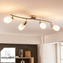 Four-bulb LED ceiling light Arda, Easydim