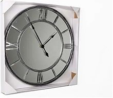 Four Seasons- Clock Mirrored Grey Extra Large Wall