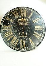 Four Seasons- Extra Large Wall Clock Metal Gold
