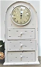 Four Seasons Mantel Clock With Drawer Arched Large