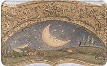 FOURFOOL Bath Mat,Retro Moon Sun Clock Ornated