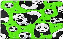 FOURFOOL Doormat Non-slip Entrance Rug Panda With