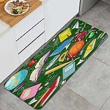 FOURFOOL Kitchen Rugs,backschool,Non-Slip Kitchen