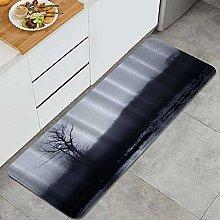 FOURFOOL Kitchen Rugs,Dark Landscape,Non-Slip
