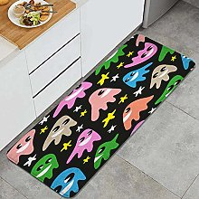 FOURFOOL Kitchen Rugs,funny ghosts,Non-Slip