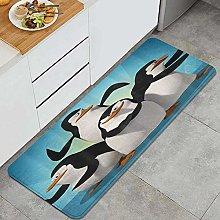 FOURFOOL Kitchen Rugs,Funny Penguin,Non-Slip