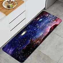 FOURFOOL Kitchen Rugs,galaxy star,Non-Slip Kitchen