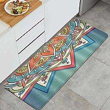 FOURFOOL Kitchen Rugs,Mandala Hippie,Non-Slip