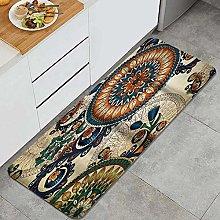 FOURFOOL Kitchen Rugs,Mandala print,Non-Slip