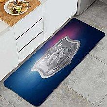 FOURFOOL Kitchen Rugs,Police Logo,Non-Slip Kitchen