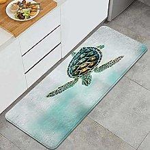 FOURFOOL Kitchen Rugs,Sea Turtle,Non-Slip Kitchen