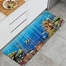 FOURFOOL Kitchen Rugs,Underwater