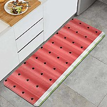 FOURFOOL Kitchen Rugs,Watermelon,Non-Slip Kitchen