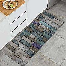 FOURFOOL Kitchen Rugs,wooden background,Non-Slip