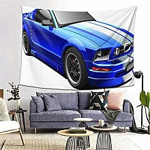 FOURFOOL Wall Hanging Tapestry,Blue Modern Pony